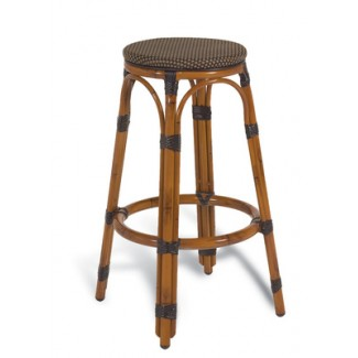 Bayside Rattan Backless Bar Stool