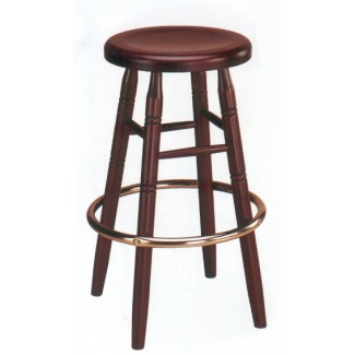 Backless Beech Wood Bar Stool 3340W with Wood Seat