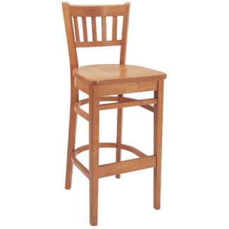 Beechwood Bar Stool BS-309VR All Wood