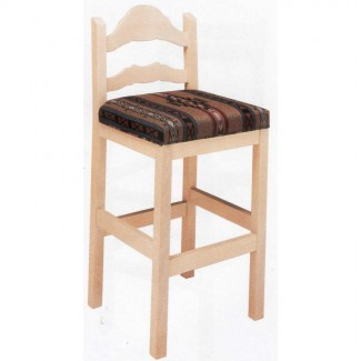 Beechwood Bar Stool BS-316UR with Upholstered Seat