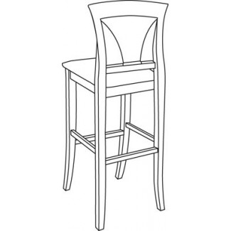 Beechwood Bar Stool BS-342UR with Picture Back