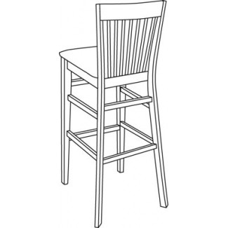 Beechwood Bar Stool BS-362UR with Picture Back