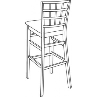 Beechwood Bar Stool BS-363UR with Picture Back