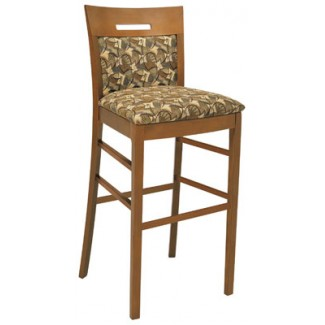 Beechwood Bar Stool BS-409UR with Inset Back