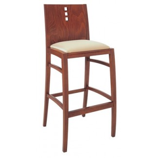 Beechwood Bar Stool BS-417UR with 3 Vertical Squares