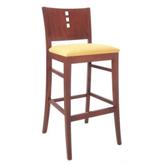 Beechwood Bar Stool BS-430UR with 3 Vertical Squares