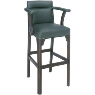 Beechwood Bar Stool BS-450UR with Upholstered Arms