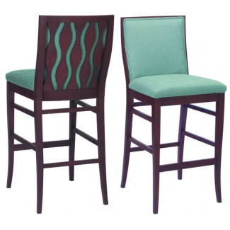 Beechwood Bar Stool BS-473UR with Picture Back