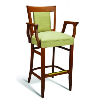 Beech Wood Bar Stool CC111 Series with Arms and Wrapped Sides