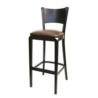 European Beech Solid Wood Upholstery Restaurant Bar Stools Beechwood Bar Stool 2480P