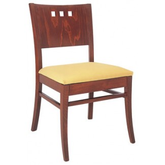 Beechwood Side Chair with 3 Horizontal Squares WC-958UR