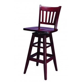 European Beech Solid Wood Upholstery Restaurant Bar Stools Beechwood Swivel Bar Stool 1970SW