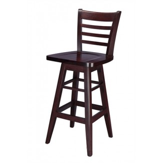 European Beech Solid Wood Upholstery Restaurant Bar Stools Beechwood Swivel Bar Stool 2500SW