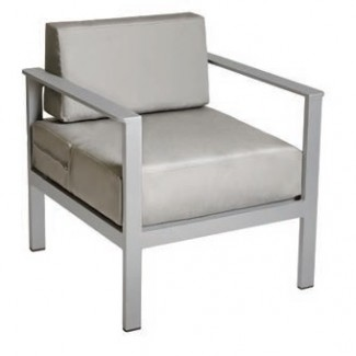 Belmar Aluminum Upholstered Outdoor Lounge Commercial Hospitality Pool Restaurant Hotel Arm chair