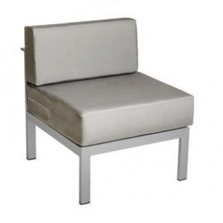 Belmar Aluminum Upholstered Outdoor Lounge Commercial Hospitality Pool Restaurant Hotel Armless Chair
