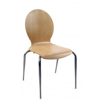 Bent Wood Nesting Side Chair N6-RD