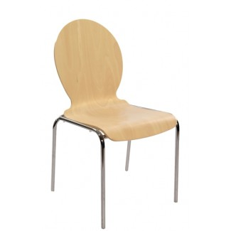 Bent Wood Stacking Side Chair S10-RD