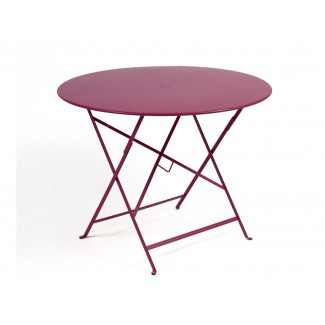 "38"" Round Folding Bistro Table with Parasol Hole"