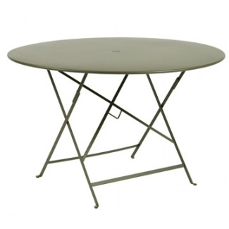 "46"" Round Folding Bistro Table with Parasol Hole"