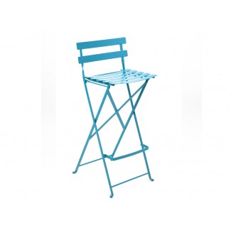 Bistro Metal Folding High Bar Stool
