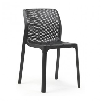 Bit Restaurant Stackable Modern Mid Century Sidechair Black