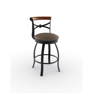 Bourbon 41522-USWB Hospitality distressed metal bar stool