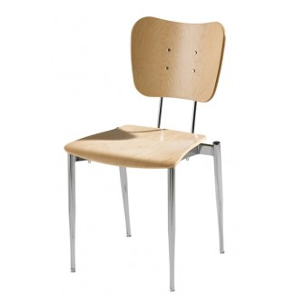 Cafe Flex Bowtie Side Chair with Wood Seat and Back