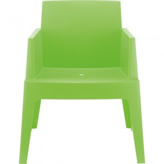 Box Stacking Resin Arm Chair
