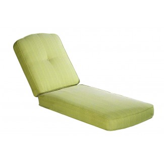 Box Chaise Lounge Cushion with Button Back Dome Top