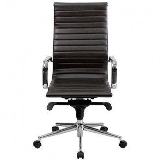 brighton high-back leather office chair