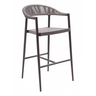 BRP-01A Woven Aluminum Modern Transitional Traditional Outdoor Restaurant Bar stool