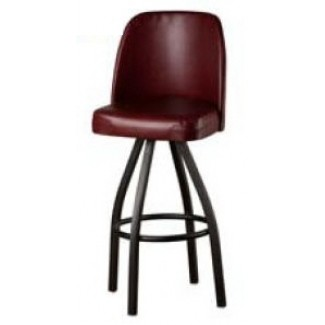 Bucket Bar Stool with Black Powder Coat Frame SL2136