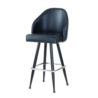 Bucket Bar Stool with Chrome or Black Frame 3095