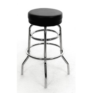Button Top Bar Stool with Double Rung Chrome Frame SL2129