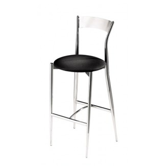 Café Twist Bar Stool with Upholstered Seat and Metal Back 193