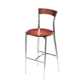 Café Twist Bar Stool with Wood Seat and Back 194