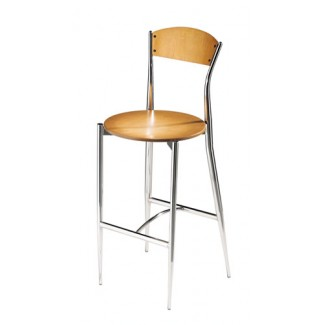 Café Twist Bar Stool with Wood Seat and Back 195
