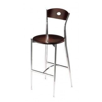 Café Twist Bar Stool with Wood Seat and Back 196