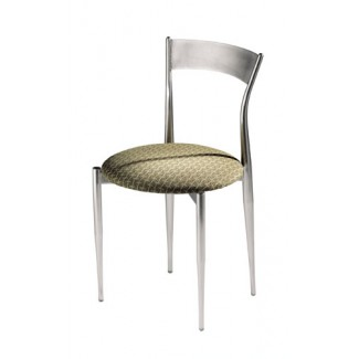 Café Twist Side Chair with Metal Back and Upholstered Seat 193