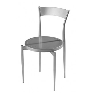 Caf&eacute Twist Side Chair with Metal Seat Chair 193-MS
