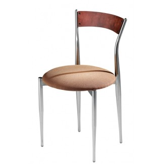 Café Twist Side Chair with Upholstered Seat and Wood Back 194-UPS