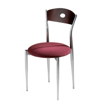 Café Twist Side Chair with Upholstered Seat and Wood Back 196-UPS