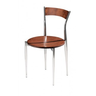 Caf&eacute Twist Side Chair with Wood Seat and Back 194