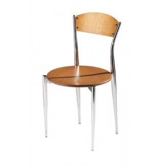 Caf&eacute Twist Side Chair with Wood Seat and Back 195