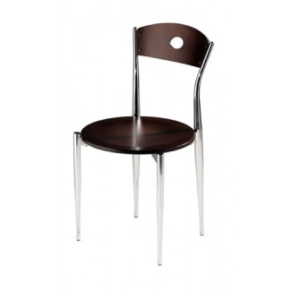 Caf&eacute Twist Side Chair with Wood Seat and Back 196