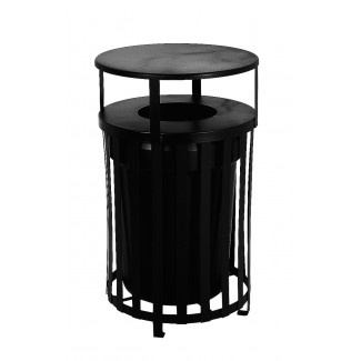 Cambridge Trash Receptacle with Liner and Lid