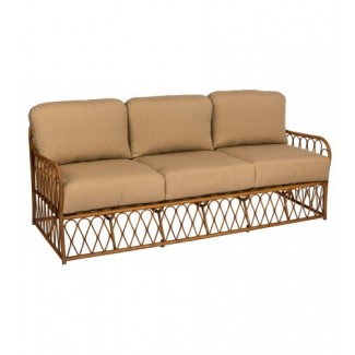 Cane S650031Aluminum Bamboo Outdoor Upholstered Restauarnt Hotel Lounge Seating Sofa
