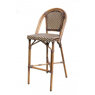 Aluminum Rattan Restaurant Stool - Cayman Bar Stool