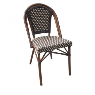 Aluminum Rattan Restaurant Chair - Cayman Side Chair