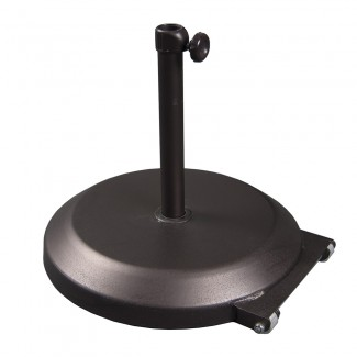 CFMT172 75lb Round Commercial Outdoor Umbrella Base Restauarant Hospitality with Wheels Bronze.jpg